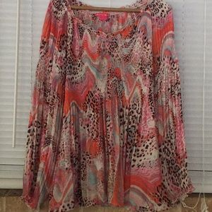Long sleeve blouse. Size L